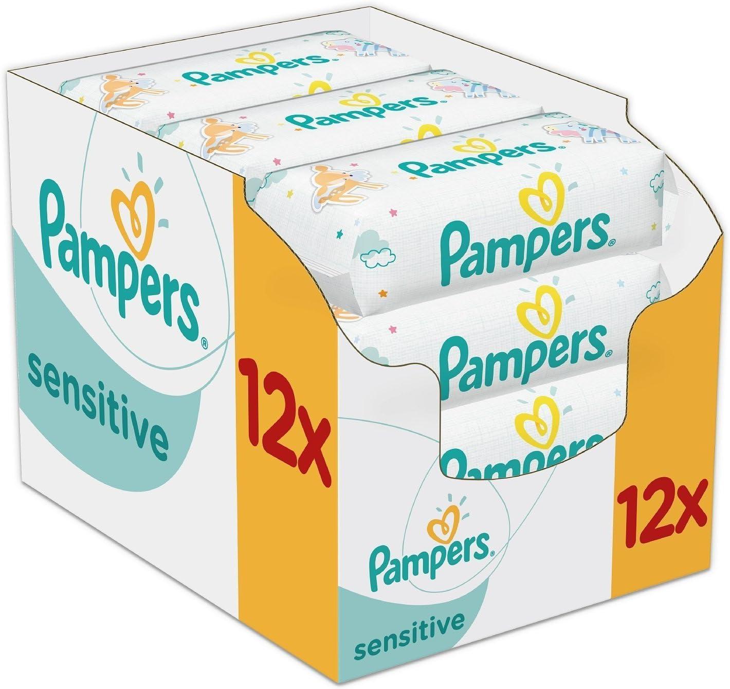 Pampers Sensitive Bebe Lingettes 12X56 total de 672 Lingettes