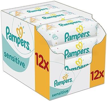 Pampers Sensitive 12 x 56 pcs - toallitas húmedas para bebé (Caja ...