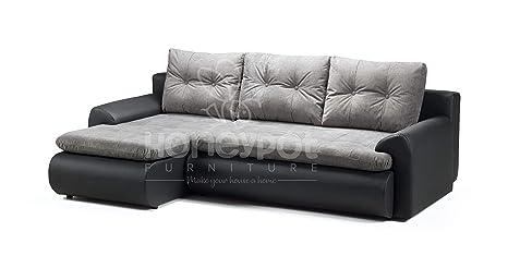 Honeypot Furniture Calasetta - Sofá Cama esquinero (Piel ...
