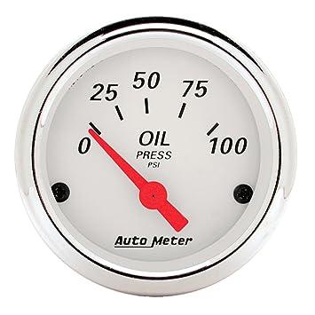 Amazon.com: Auto Meter 1327 Arctic White Presión de aceite ...