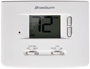BRAEBURN 1025NC Thermostat, Non-Programmable, Heat Only