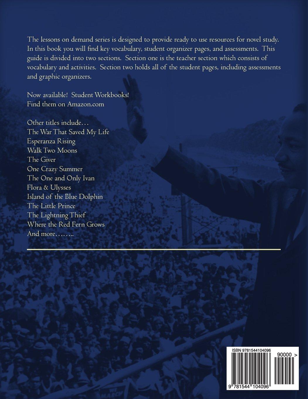 March Book Two by John Lewis Teacher Guide Novel Unit and Lesson Plans:  Lessons on Demand: John Pennington: 9781544104096: Amazon.com: Books