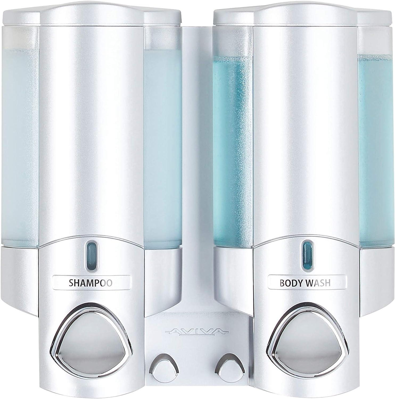 Better Living Products 76235-1 AVIVA Two Chamber Dispenser, Satin: Home & Kitchen