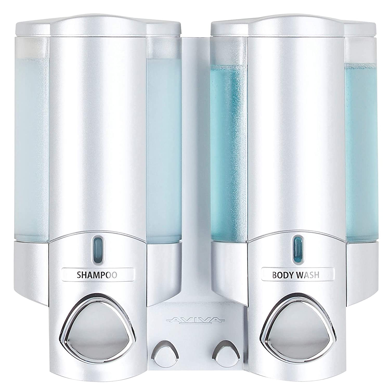 Better Living Products 76130 AVIVA Single Bottle Soap and Shower Dispenser, Satin Silver