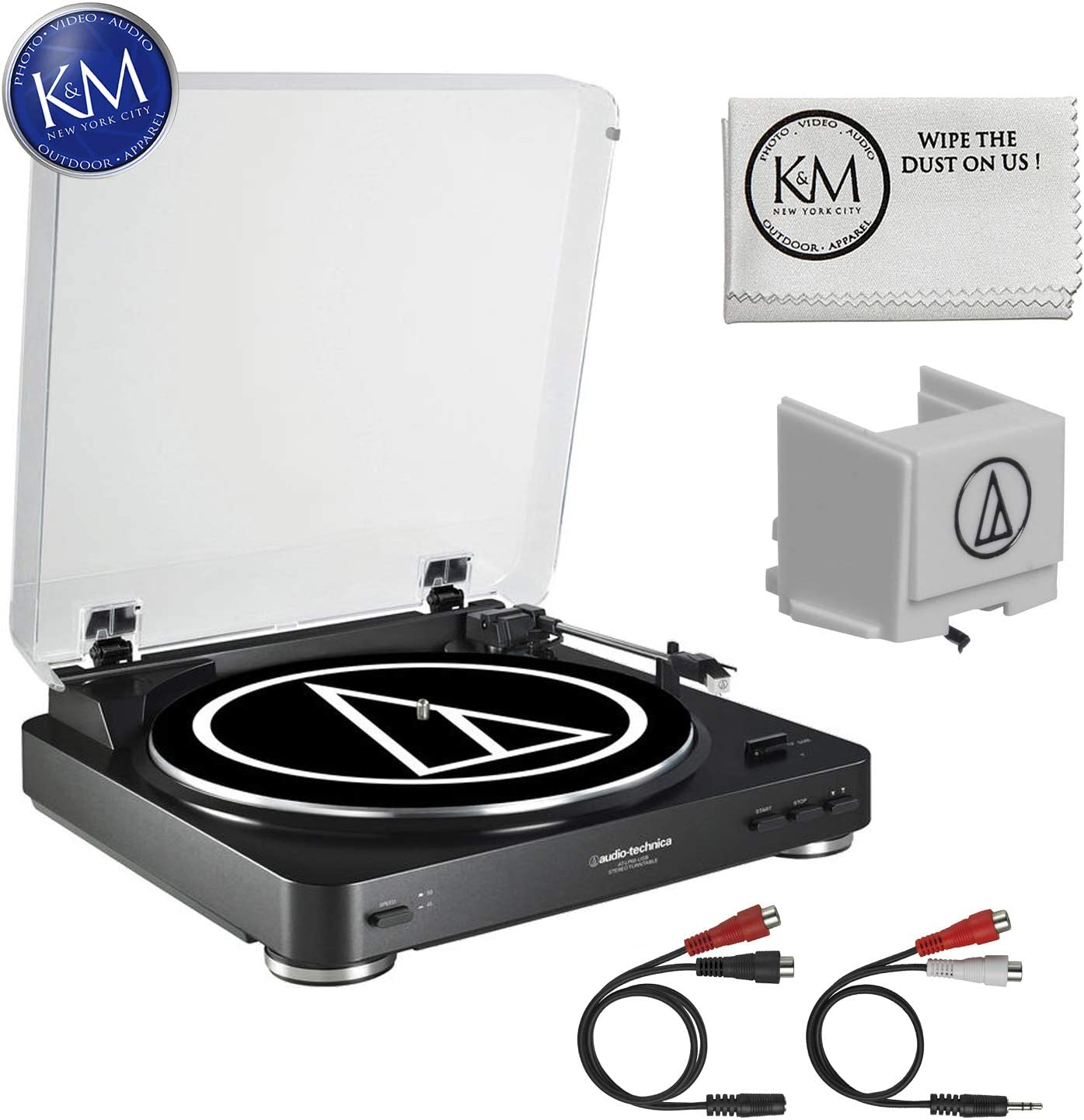 Audio-Technica AT-LP60 USB Turntable (Black) + Extra ATN3600L Stylus + K&M Cloth 71fX2BjCpQ1LSL1500_