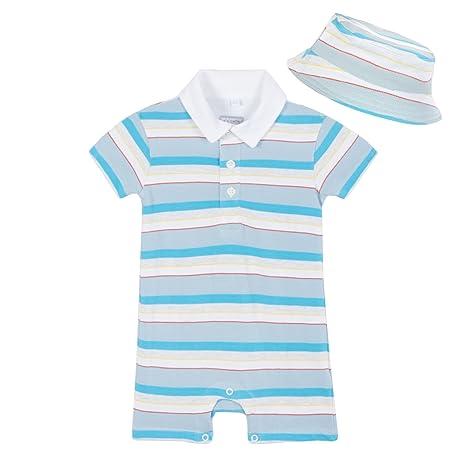 Bluezoo Kids Baby Boys varios rayas impresión Polo con traje de ...
