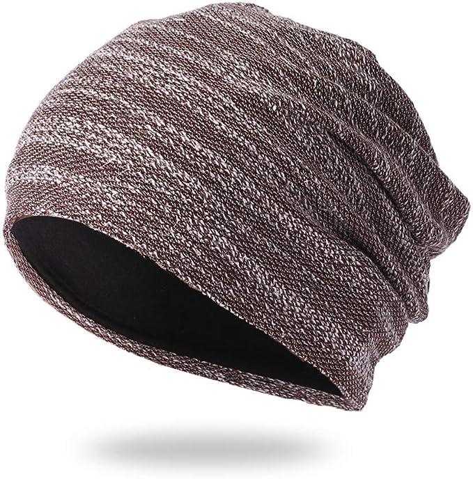 Knotted Head Stretch Wrap Turban SKULL SLEEP CAP PURPLE