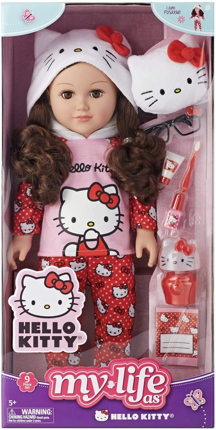 """Caucasian Blonde NEW My Life As 18/"""" Poseable Hello Kitty Doll"""