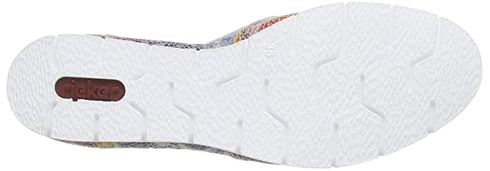 Rieker Damen M1356 Women Loafers Slipper Mehrfarbig (Ice