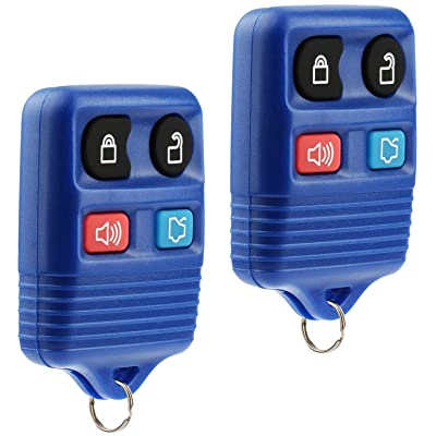 Key Fob Keyless Entry Remote fits Ford, Lincoln, Mercury, Mazda Mustang (Blue), Set of 2: Automotive