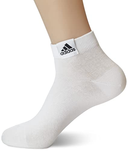 Adidas Ankle Plain T3p - Calcetines para niño, color blanco, talla 31-34