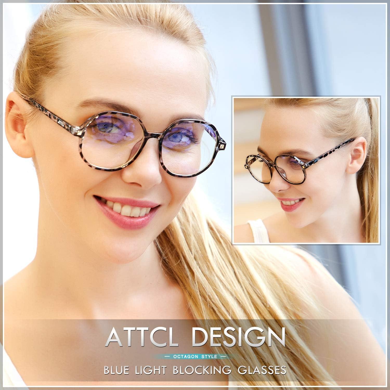 ATTCL Tondo Occhiali Antiriflesso Anti Luce Blu Per UV PC Gaming Computer Uomo Donna