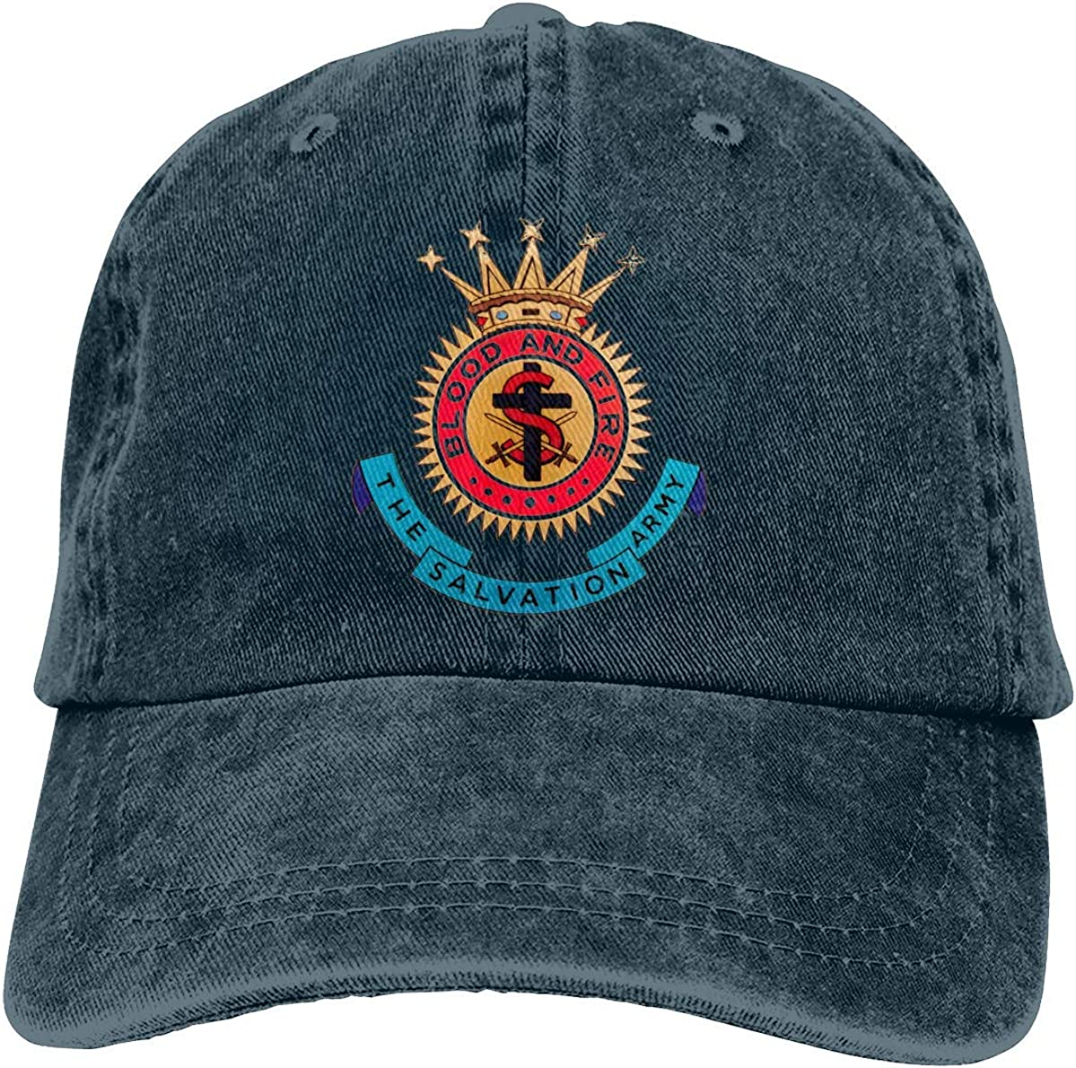 Cybil Home US America The Salvation Army Crest Denim Hats Washed Retro Baseball Cap Dad Hat