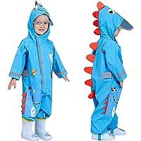 TURMIN 3D söt pöldräkt för flickor barn vattentät regnrock med huva regn poncho baby lerig kostym med reflekterande rand…