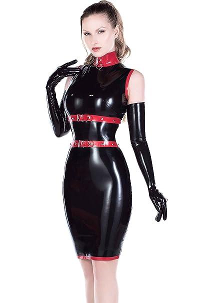 De Ribete UK Vestido Negro 06 34 Westward Dominatrix Rojo Bound Cont con ZwREcfq