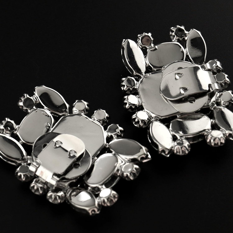 Brautschmuck abnehmbar kompatibel mit Hochzeit Create Idea Schuhclip mit Kristallen
