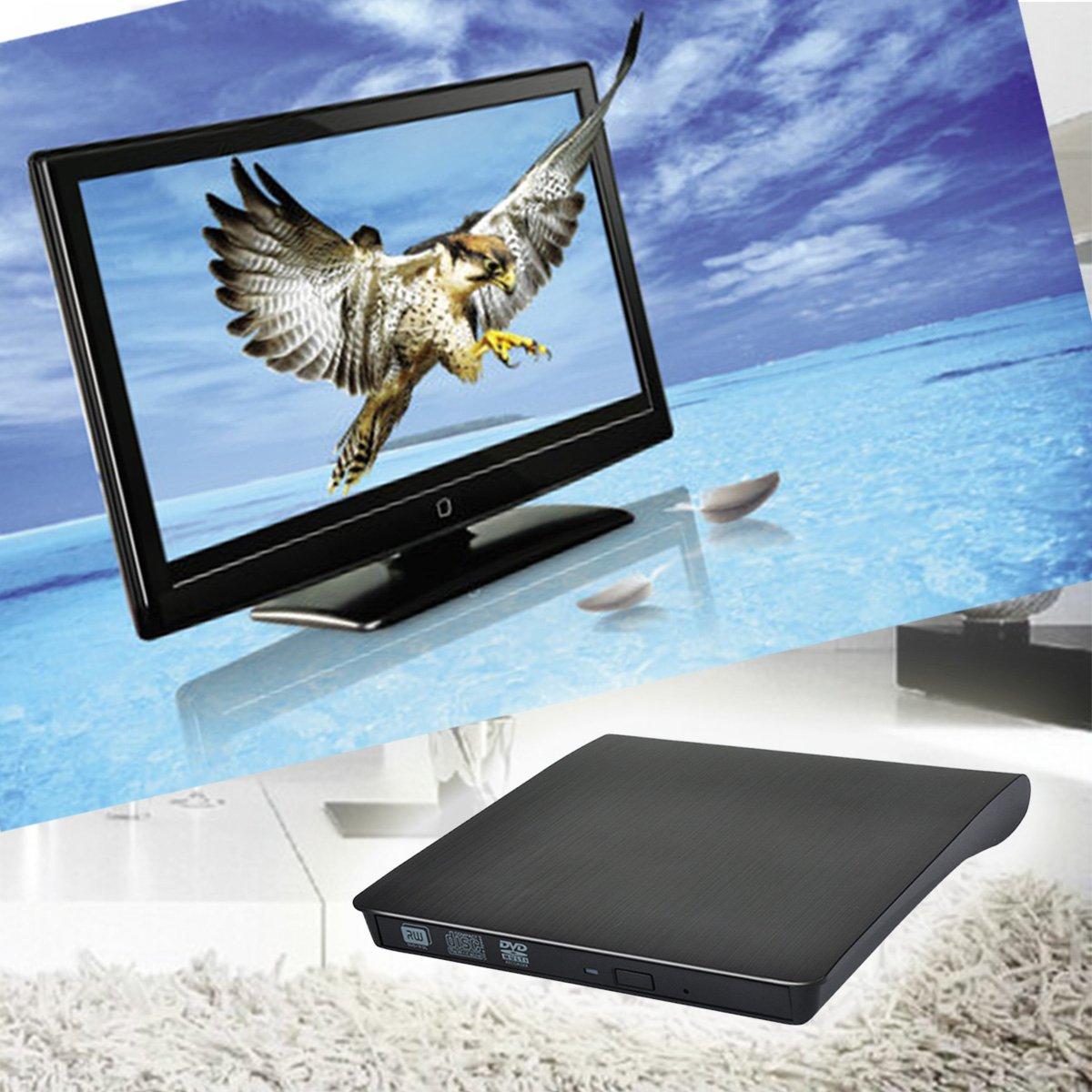 Amazon.com: UEB USB 3.0 Ultra Slim External CD DVD RW DVD ROM Drive/Writer/Burner for XP Windows 7,Windows 8,Windows 10 - Black: Computers & Accessories