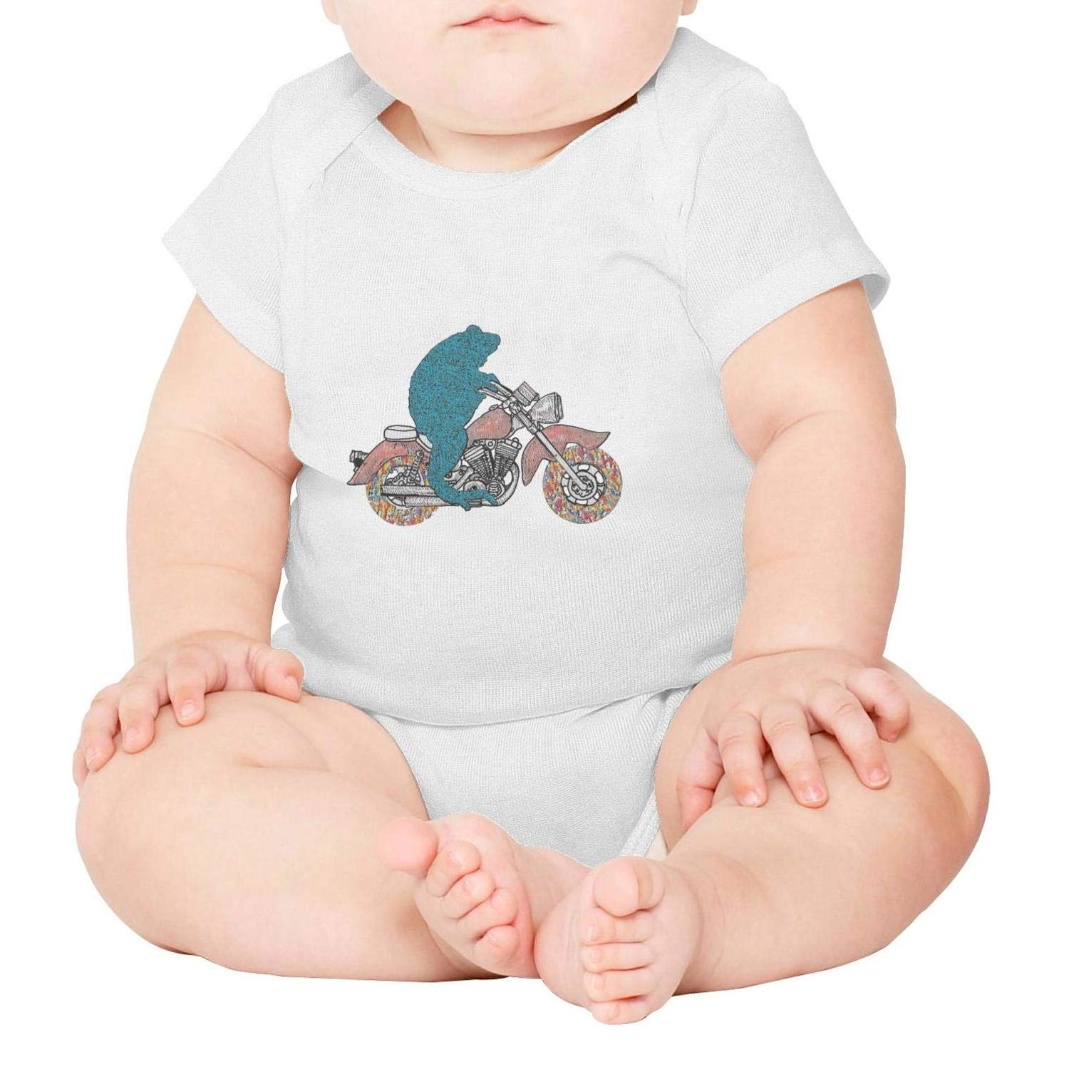California Art Los Angeles Sunny Beach Short Sleeve Natural Organic Baby Onesies Romper Cotton 100/% for Infant Boys Girls