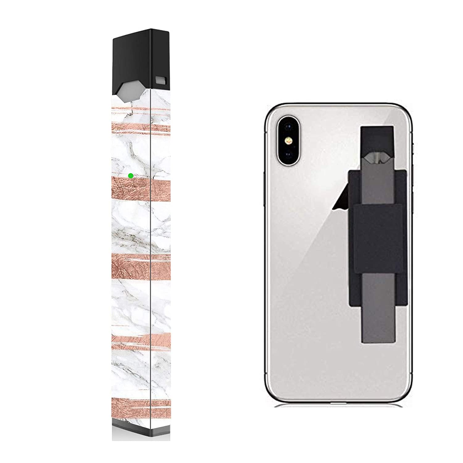 2 Pack - Marble with Rose Gold Juul Skin and Phone Holder for Device | Juul  Decal | Juul Wrap | Juul Sticker | Juul Case | Juul Holder