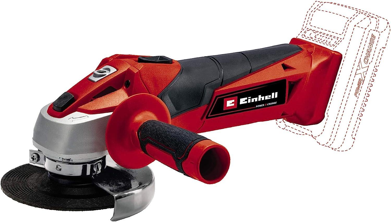 Einhell TC-AG 18/115 Li-Solo Amoladora Angular Inalámbrica, 0 W, 18 V, Rojo/Negro, 115 mm