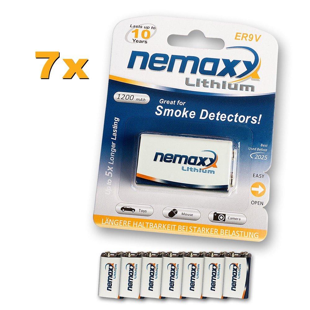 10x Nemaxx Lithium 9V Block Batterie Set fü r Rauchmelder 10 Jahre Lebensdauer Bargain24 AG 10LI9V