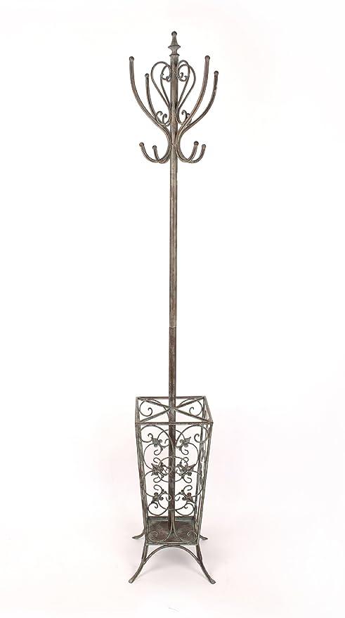 DELUXE Perchero de METAL forjado de hierro paraguas sombrero ...