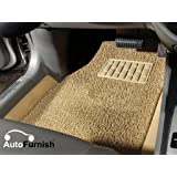Autofurnish Anti Skid Curly Car Foot Mats (Beige) Universal