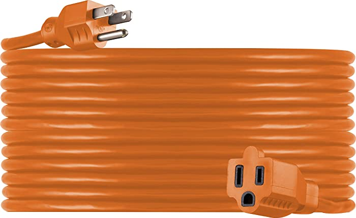 UltraPro, Orange, GE 50 Foot Extension, Heavy Duty, 16AWG, Indoor/Outdoor Use, Extra Long Power Cord, UL Listed, 51926, ft