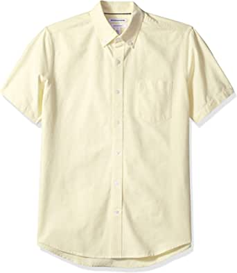 Amazon Essentials Hombre Camisa Oxford con bolsillo de manga corta y ajuste normal