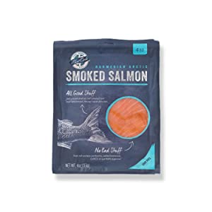 Blue Circle Foods, Sustainably-Raised Norwegian Smoked Salmon - Thinly Sliced, Award-Winning Flavor - 4 PACKS / 2 LB
