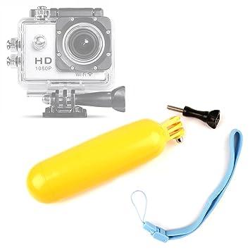 DURAGADGET Flotador Color Amarillo para APEMAN Cámara Deportiva 4k: Amazon.es: Electrónica