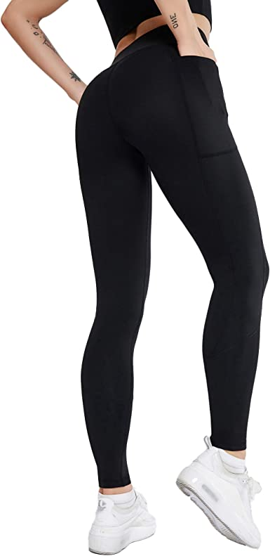 Yoga Pants for Women High Waist,Running Pants with Pockets Non See-Through Full Length Tummy Control 4 Way Stretch Leggings