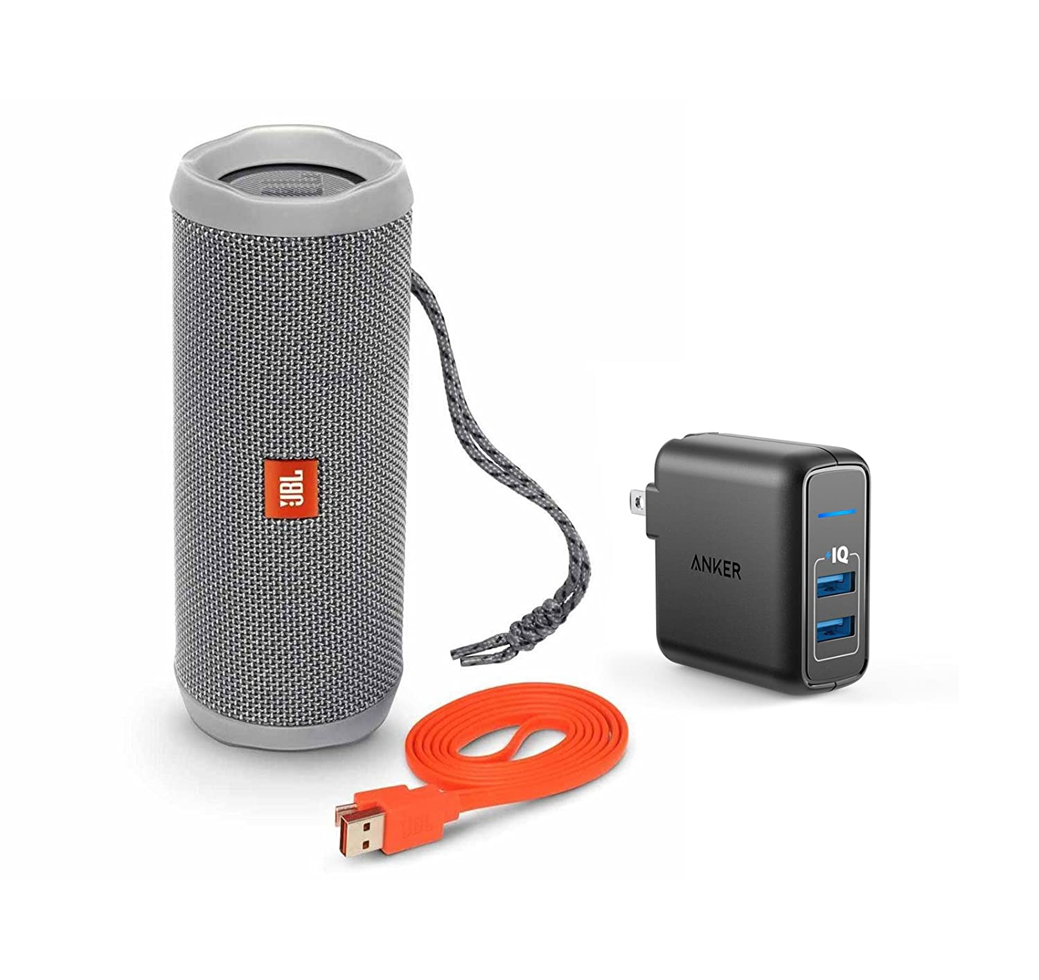 Amazon JBL Flip 4 Portable Bluetooth Wireless Speaker Bundle with Dual Port 24W USB Travel Wall Charger Red Home Audio & Theater