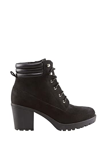 c31df4d54f Yours Clothing Wide Fit Women's Lace Up Heeled Ankle Boot In Eee Fit Size  6EEE Black