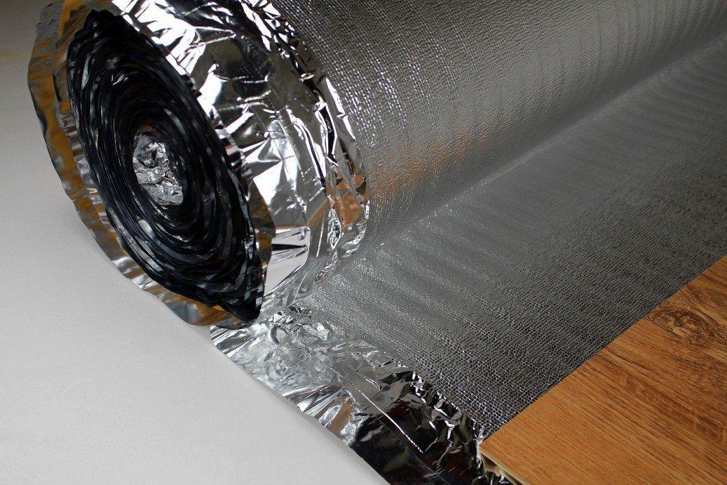 75 m/² Trittschalld/ämmung Dampfsperre Klebestreifen Boden D/ämmung SILVER PLUS 3mm