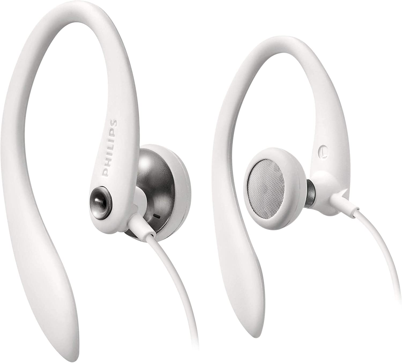 Philips SHS3300WT/10 - Auriculares deportivos, color blanco