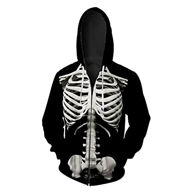 Skull Print Men Women 3D Mens Hoodies Sweatshirts Harajuku Zipper Hip Hop Long Sleeve Pullovers 421