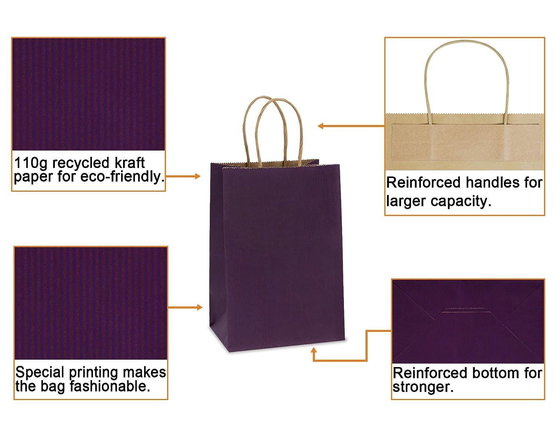 Amazon.com: bagdream bolsas de papel Kraft 100pcs 5.25