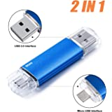 Micro USB Flash Drive 64G OTG Memory Stick for Android Smart Phone, Vansuny USB Photo Stick Thumb Drive PenDrive for Tablets/Mac/Android Device, Jump Drive Pen Drive for PC (64GB, Blue)