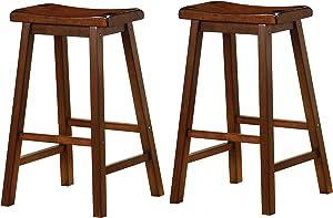 "Wooden 29"" Bar Stools Chestnut (Set of 2)"