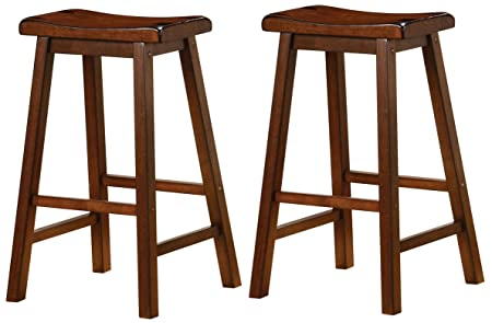 Wooden 29 Bar Stools Chestnut Set of 2