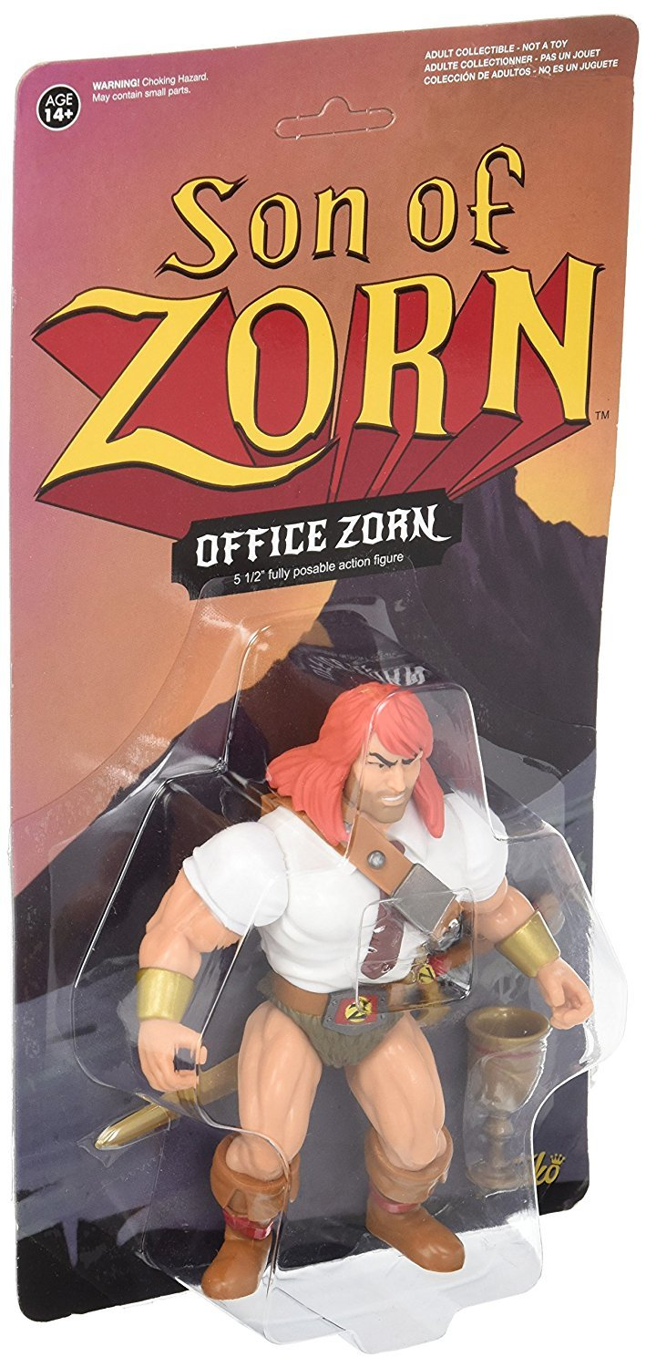 Set of 2 FunKo Son of Zorn Zorn in his classic Zephyria outfit Action Figure and in his office attire