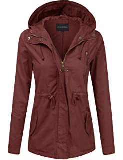c3a9155b0cd JJ Perfection Women s Casual Lightweight Anorak Army Utility Hoodie Jacket