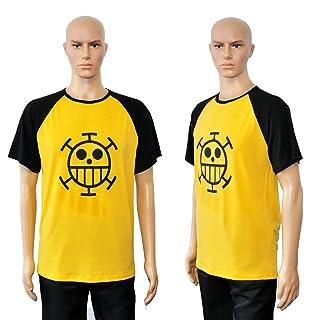 CoolChange maglietta One Piece di Trafalgar Law con Jolly Roger simbolo dei pirati Heart, Taglia: L