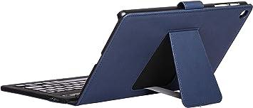 Silver HT - Funda con Teclado Bluetooth para Tablet Samsung Tab A 2019 de 10,1