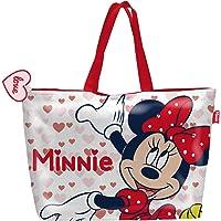 ARDITEX WD13587 Bolsa de Playa de 48x32cm con Cremallera de Disney-Minnie