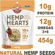 Manitoba Harvest Hemp Hearts Raw Shelled Hemp Seeds, 454g; with 10g Protein & 12g Omegas per Serving, Whole 30 Approved, Non-
