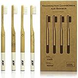 AVOID WASTE - Nachhaltige Zahnbürste aus Bambus - 100% vegan und 100% BPA-frei - Die veganen Bambuszahnbürsten mit weichen Borsten (4)