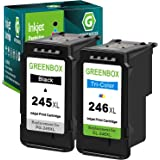 GREENBOX Remanufactured Ink Cartridges 245 and 246 Replacement for Canon PG-245XL CL-246XL PG-243 CL-244 for Canon PIXMA MX49
