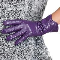 Nappaglo Nappa Leather Gloves Warm Handmade Curve Lambskin for Women